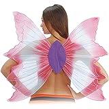 Ali farfalla in organza rosa e lilla cm 72x82