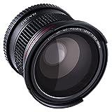 Beschoi 58MM Fisheye Lens 0.35 Macro Fisheye Lens 0.35X Ultra Clear Blue Film Coated Fish Eye Lens For Canon Nikon DSLR Cameras + Cleaning Cloth