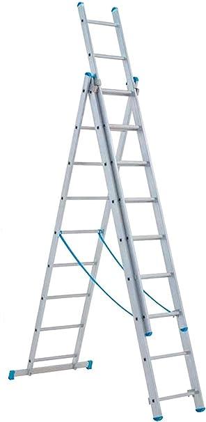 Escalera Aluminio Telescópica Tubesca Starline 3 rampas: Amazon.es: Bricolaje y herramientas