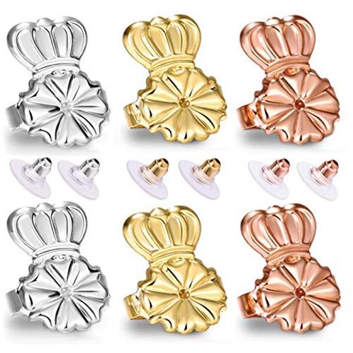 Original Magic Earring Lifters and Earring Backs 3 Pairs Earring Lifters + 6 Pcs Earring Bullets Backs (3 Lifters/3 Bullets) (3 Lifters/3 Bullets) (Three Earring Lifters & Three Bullet Back)