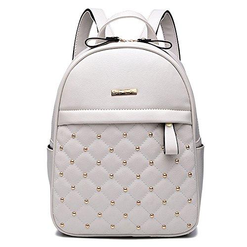(JVP1043-C) Mujeres Luc cuero de la PU 3way bolso trasero bolso de hombro de viaje de gran capacidad Volver señoras Escuela de moda simple popular de cercanías luz Negro