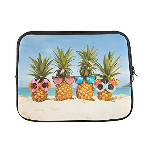 InterestPrint Funny Tropical Summer Beach Pineapples Wearing