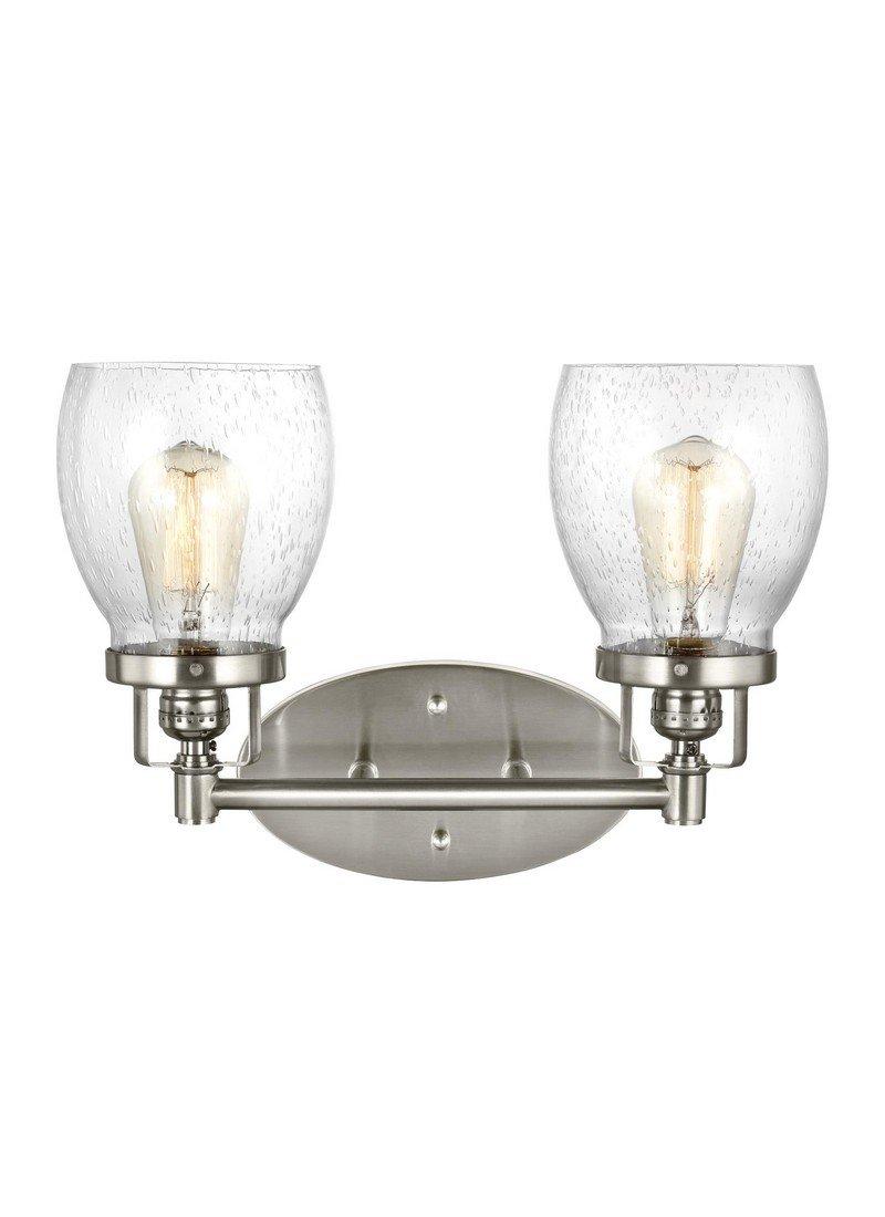Sea Gull Lighting 4414502-962 Belton Vanity 2, Two-Light, Brushed Nickel Finish