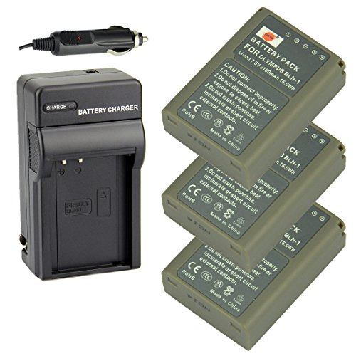 DSTE Battery Charger Adapter Olympus