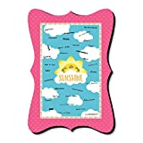 Big Dot of Happiness You Are My Sunshine - Unique Alternative Guest Book - Baby Shower or Birthday Party Signature Mat