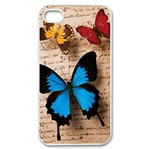 Butterfly DIY Cover Case for Iphone 4,4S,personalized phone case ygtg523506