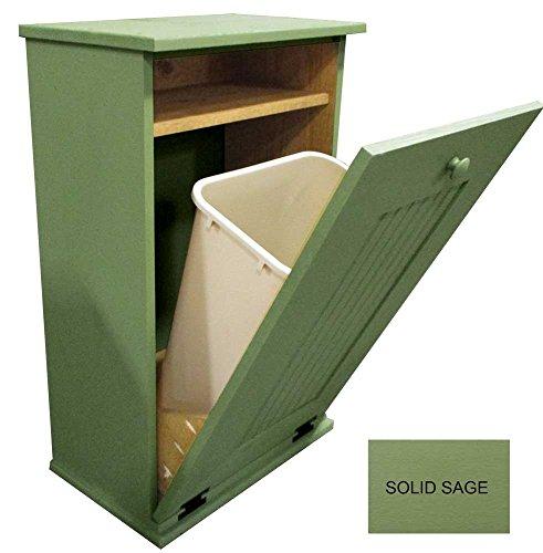 Wood Tilt-Out Trash Cabinet (Solid Sage)