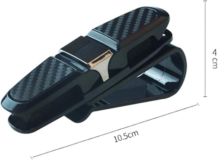 Carbon Fiber Style/&Rose red Clips kohlefaser Card Pen Holder eine Sonnenbrille. tragbare Sonnenblende kfz Brille zubeh/ör auf beiden Seiten Auto