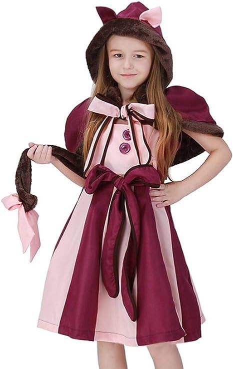 Pkfinrd Traje de Cosplay de niña púrpura for niños Sonrisa Gato ...