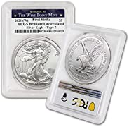 2021 (W) 1 oz American Silver Eagle Coin Brilliant Uncirculated (Type 2 - First Strike - Struck at The West Po