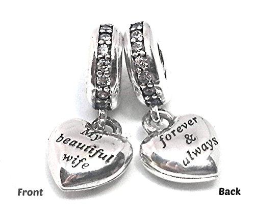 Pandora My Beautiful Wife Silver Dangle Charm 791524CZ