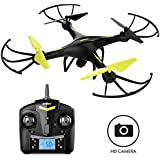 "Force1 Drones with Camera - ""U45 Raven"" 720p HD Camera Drone with 4GB SD Card and Card Reader RC Drone Camera Kit with Drone Quadcopter LED Toys Lights (Certified Refurbished)"