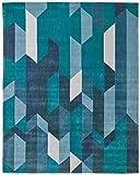 Rivet Geometric Color Blocking Rug, 7'6'' x 9'6'', Blue