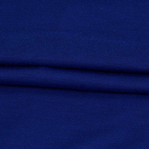 cuciture yanhoo® Obliquo Manica A Womens Pipistrello Fashion Lunga Collare Moda Pizzo Maglie Blu Camicette Lunga Uzt4navwq