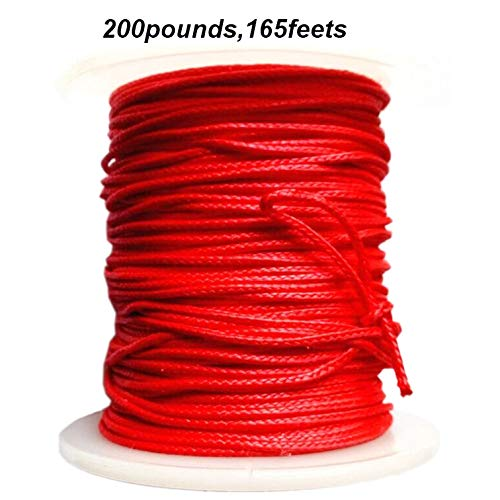1PK 165ft/50m 200Pounds, Tested 200-250Pounds Bowfishing Slingshot Fishing Diving Gun Fishing Line Superpower 8 Strands Braided .100% PE from Japan
