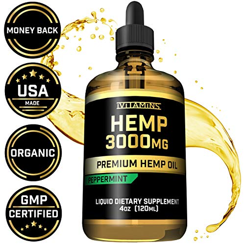 iVitamins Hemp Oil for Pain Anxiety Relief :: 3,000mg 4oz :: Natural Hemp Seed Extract :: May Help with Inflammation, Joints, Sleep, Mood + MORE :: Rich in Omega 3,6,9 (Best Over The Counter Sleep Aids 2019)