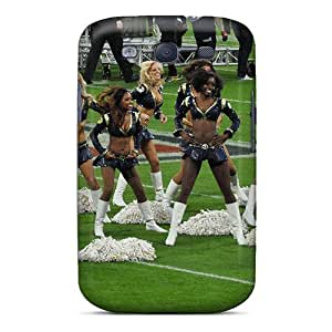 Quality RareCases Case Cover With St. Louis Rams Cheerleaders Nice Appearance Compatible With Galaxy S3