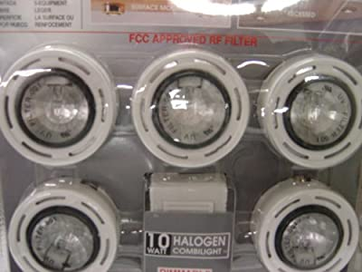 USA Lighting 63115/05 Under Cabinet Light, Surface or Recessed 5 Light Under Cabinet Lighting System Kit - White