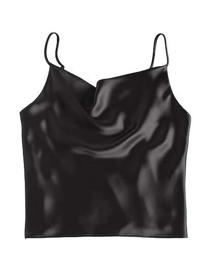 f5e6f8b725eed ZAFUL Women s Sleeveless Spaghetti Strap Satin Cami Tank Tops Silk ...