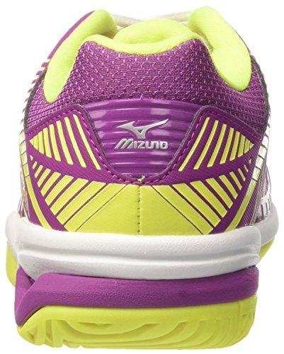 Mizuno Women's Wave Exceed Tour Ac WOS Tennis Shoes Pink (Cloverwhitesafetyyellow) tOq5vu