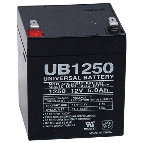 Sealed Lead Acid Batteries (12V; 5 AH; .187 Tab Terminals; UB1250)