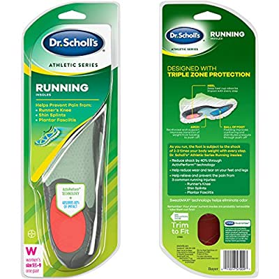 Dr. Scholl's Running Insoles Absorb Shock and Prevent Common Running Injuries