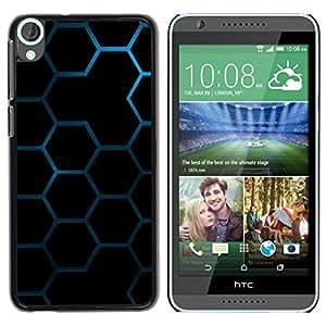 Be Good Phone Accessory // Dura Cáscara cubierta Protectora Caso Carcasa Funda de Protección para HTC Desire 820 // Hexagon Honeycomb Pattern