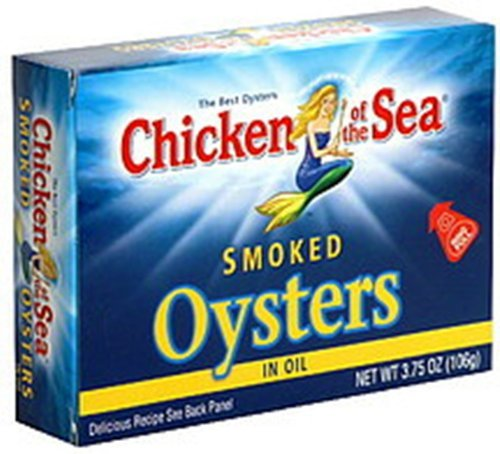 Chicken of the Sea Smoked Oysters in Oil, 3.75-ounce (Pack of 6)