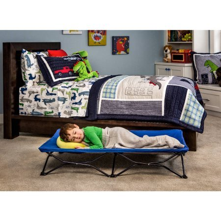Find Bargain Regalo My Cot Blue Portable Folding Travel Bed with Travel Bag | Folding Steel Frame (F...