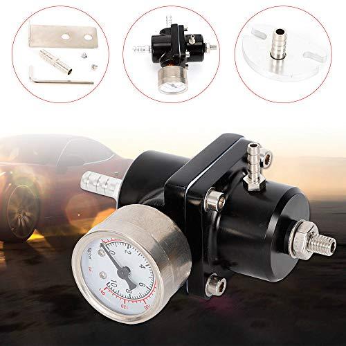 Fuel Pressure Regulator Adjustable Fuel Pressure Regulator Universal Pressure Gauge 0-140PSI for Car Turbo: