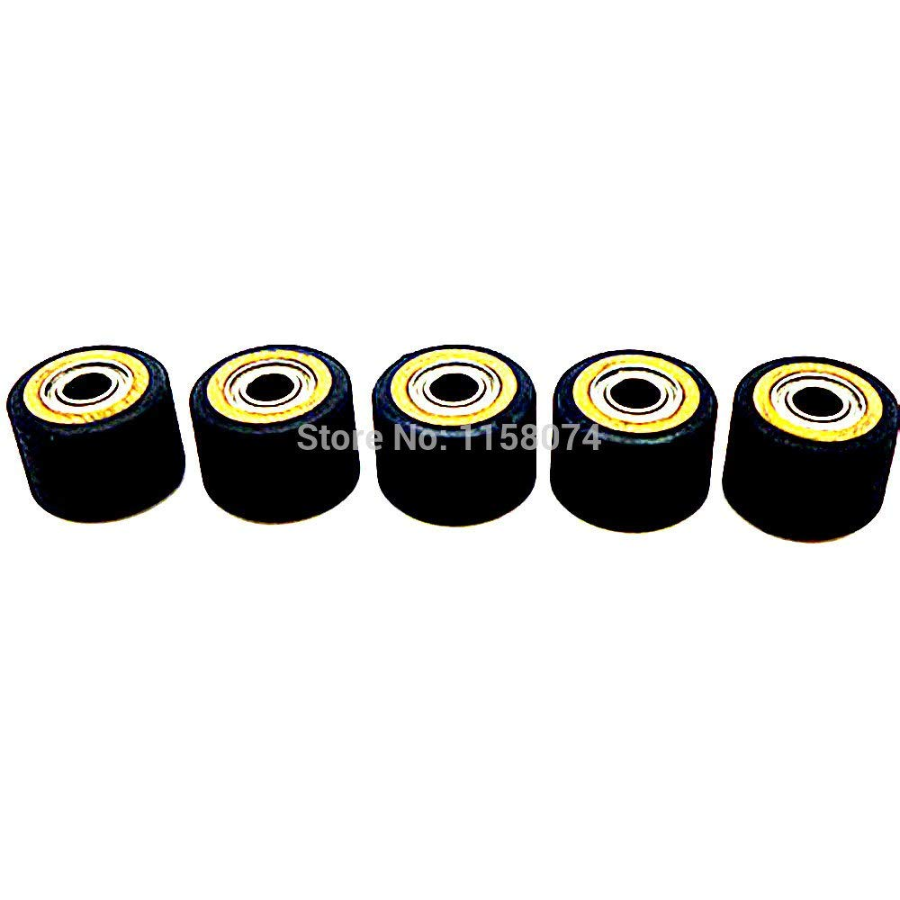ILLIO Pack Of 5 Copper Core Pinch Roller Wheel Bearing 4x10x14mm Pinch Rollers Printer Parts For Roland Cutting Plotter Vinly Cutter NEW