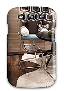 OnzasDN4537LiPIP Faddish Lucite Chairs And Dark Wooden Table On Hardwood Flooring Case Cover For Galaxy S3