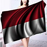 SeptSonne 100% Cotton Super Absorbent Flag of INDONESIA Multipurpose Quick Drying L63 x W31.2 INCH