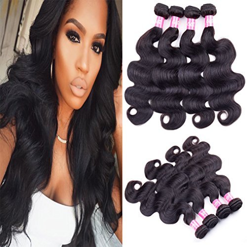 Odir 7A Brazilian Body Wave 4 Bundles 24'' 26'' 28'' 30'' Brazilian Hair Body Wave Brazilian Virgin Hair Weave Human Hair Extensions Natural Color by Odir