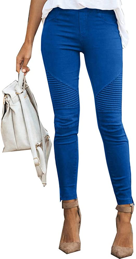 Leggings da donna only basic Stretch Skinny Fit High Waist Donna Pantaloni Pantaloni Lunghi
