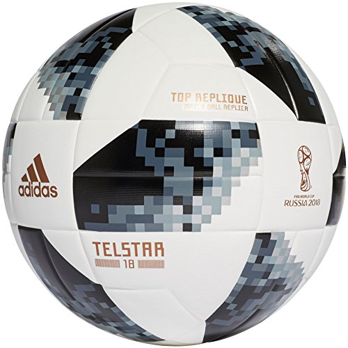 adidas FIFA World Cup Top Replique Ball White/Black/Silver Metallic, 4