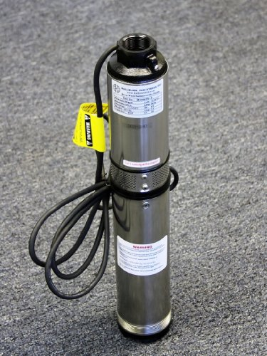 1 Hp Submersible Water (Hallmark Industries MA0414X-7A Deep Well Submersible Pump, 1 hp, 230V, 60 Hz, 33 GPM, 207' Head, Stainless Steel, 4