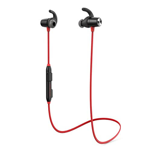 Running Headphones, dodocool Bluetooth Earphones 4.1 Stereo Magnetic Earbuds, IPX6 Waterproof, Secure Fit for Sport, Gym with Built-in cVc 6.0 Noise Cancelling Mic (Red)