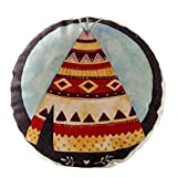 Country Style Sofa Round Cushion Chair Cushion Pillow Seat Pad, No.6