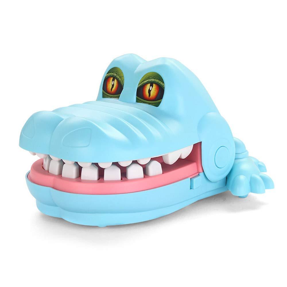 Bescita Squishy Spielzeug, Fan Beiß en Krokodil Hai Einen Finger Beiß en Spielzeug Parodie Spielzeug Eltern-Kind Spielzeug Puzzle Spielzeug Hai Beiß en Finger Spiel Lustig Party Spiel Toys (Blau)