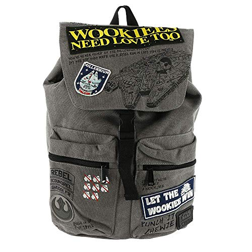 Loungefly Star Wars Wookie Patch Backpack Grey]()