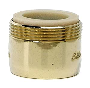 BRASS CRAFT SERVICE PARTS Faucet Aerator, Low Flow, Polished Brass, Dual Thread, 15/16 & 55/64-In. x 27-Thread
