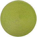 Saleen Mantel individual redondo, 40cm, color verde