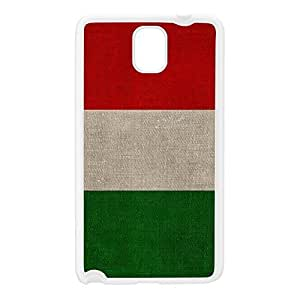 Canvas Flag of Italy - Italian Flag - bandiera d'Italia White Silicon Rubber Case for Galaxy Note 3 by UltraFlags + FREE Crystal Clear Screen Protector