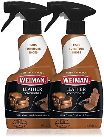 Amazon Com Weiman Leather Cleaner And Conditioner For Furniture 12 Ounce 2 Pack Ultra Violet Protection Help Prevent Cracking Or Fading Of Leather Couches Car Seats Shoes Purses Health Personal Care