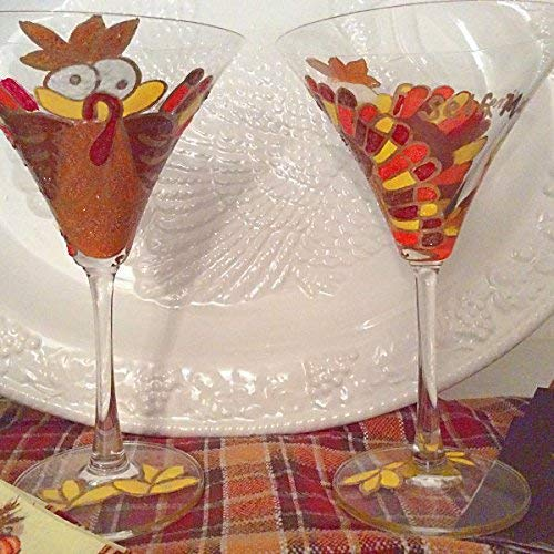 Fall Glasses,Autumn Glasses,Thanksgiving Glasses,Thanksgiving Glassware, Thanksgiving Drinking,