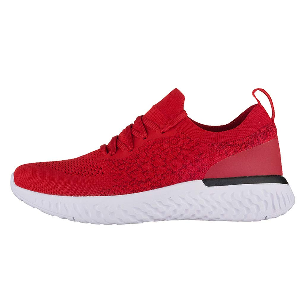 Sneakers for Men 2019, Caopixx Men's Outdoor Casual Lace-up Comfortable Running Shoes Travel Casual Shoes Red