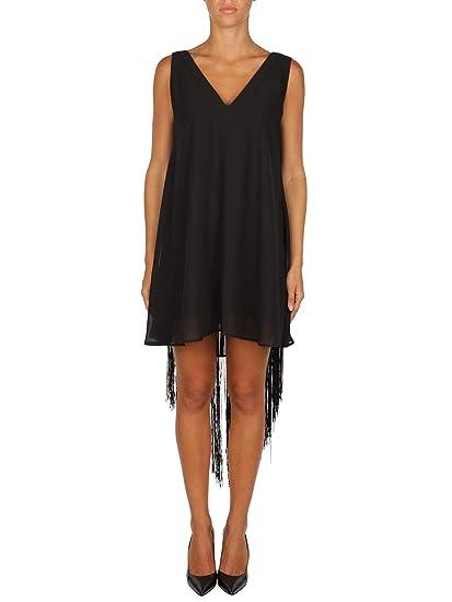 4c835c0fe58 Liu Jo Women's I68007T525922222 Black Viscose Dress: Amazon.co.uk: Clothing
