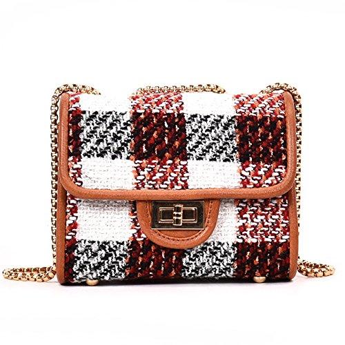 Woman incense Pequeña Satchel Bag Bolsa De Hombro Messenger Bag Lock,Brown brown