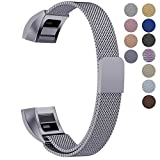 Oitom for Fitbit Alta HR Accessory Bands and Fitbit Alta Band, (2 Size) Large 6.7''-9.3'' Small 5.1''-6.7'' (8 Color) Silver Black Rose Gold Pink Blue Brown Rainbow (Space Grey, Large 6.7''-9.3'')